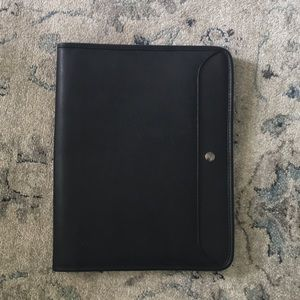 Other - Black Leather Business Work Portfolio Left Handed